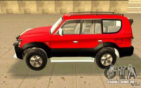 Toyota Land Cruiser Prado para GTA San Andreas traseira esquerda vista