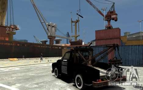 Black Towtruck para GTA 4 traseira esquerda vista