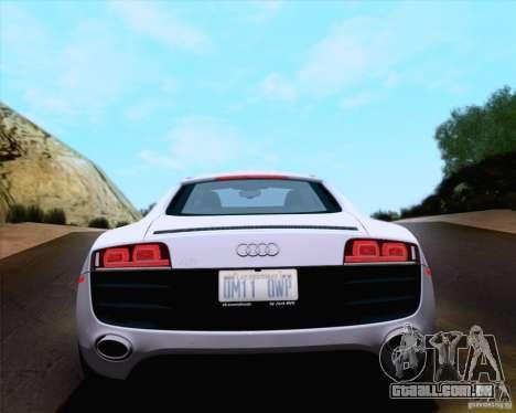 Audi R8 v10 2010 para GTA San Andreas vista interior