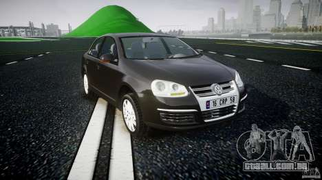 Volkswagen Jetta 2008 para GTA 4 vista de volta