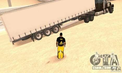 Krone Trailer para GTA San Andreas traseira esquerda vista