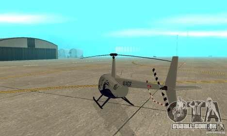 Robinson R44 Raven II NC 1.0 4 de pele para GTA San Andreas vista direita