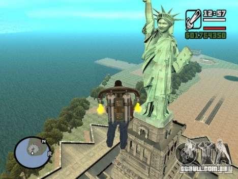 A estátua da liberdade para GTA San Andreas segunda tela