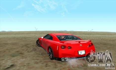 Nissan GT-R R-35 2012 para GTA San Andreas esquerda vista