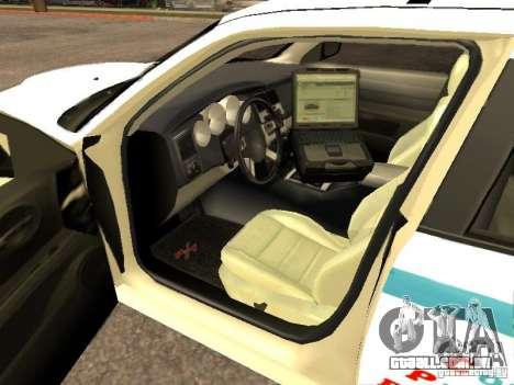 Dodge Charger Police NYPD para GTA San Andreas traseira esquerda vista