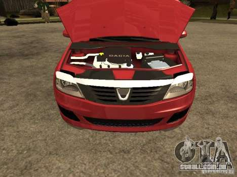 Dacia Logan Rally Dirt para GTA San Andreas vista direita