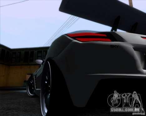 Saturn Sky Roadster para GTA San Andreas vista traseira