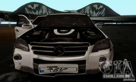 Mercedes Benz ML63 AMG para GTA San Andreas vista traseira