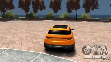 Range Rover LRX 2010 para GTA 4 traseira esquerda vista