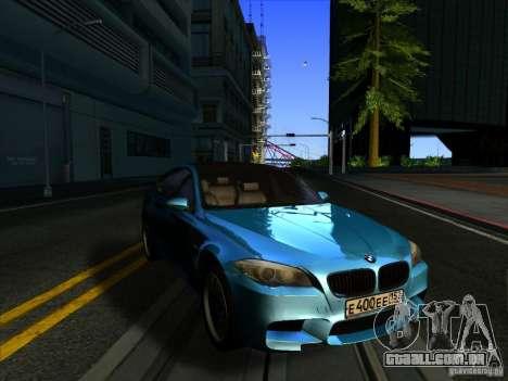BMW 535i F10 para GTA San Andreas traseira esquerda vista