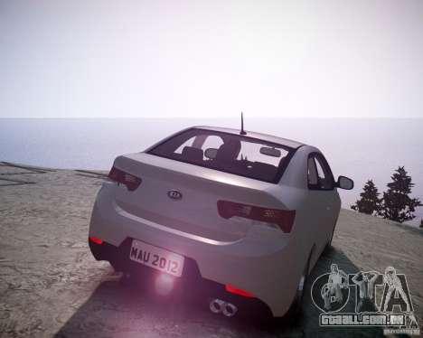 Kia Cerato Koup 2011 para GTA 4 traseira esquerda vista