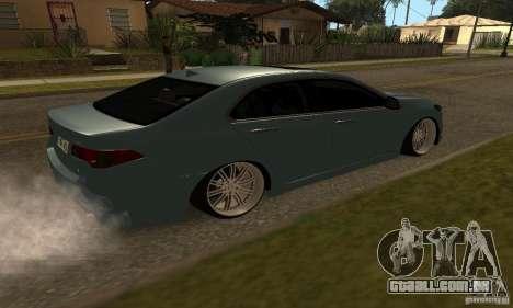 Acura TSX 2010 para GTA San Andreas esquerda vista