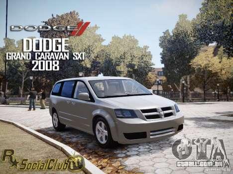 Dodge Grand Caravan SXT 2008 para GTA 4