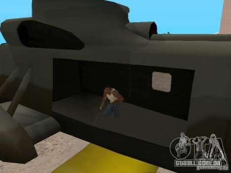 Enterable Leviathan para GTA San Andreas vista traseira