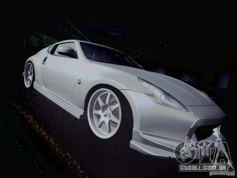 Nissan 370Z Fatlace para GTA San Andreas vista inferior