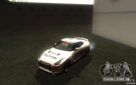 Nissan GTR R35 Spec-V 2010 para GTA San Andreas vista interior