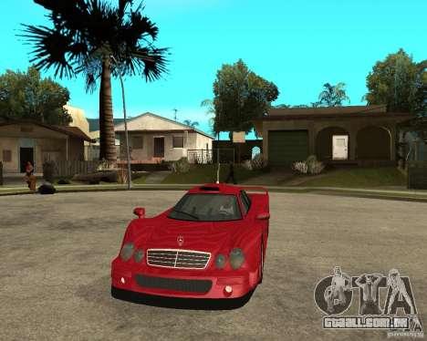 Mercedes-Benz CLK GTR road version para GTA San Andreas vista traseira