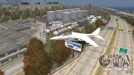 Liberty City Air Force Jet para GTA 4 vista direita