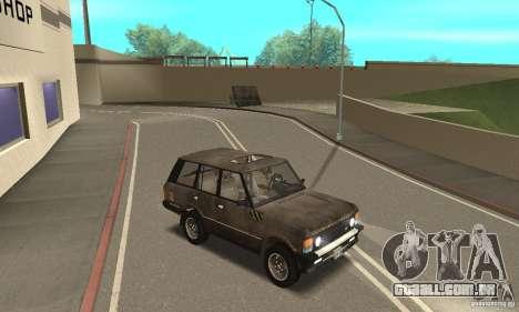 Range Rover County Classic 1990 para GTA San Andreas vista inferior