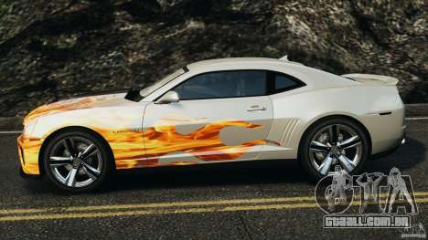 Chevrolet Camaro ZL1 2012 v1.0 Flames para GTA 4 esquerda vista