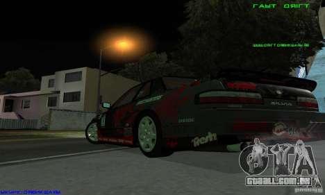 Nissan Silvia S13 Tunable para GTA San Andreas vista interior