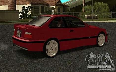 BMW E36 M3 1997 Coupe Forza para GTA San Andreas vista direita