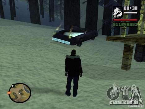 GhostCar para GTA San Andreas por diante tela