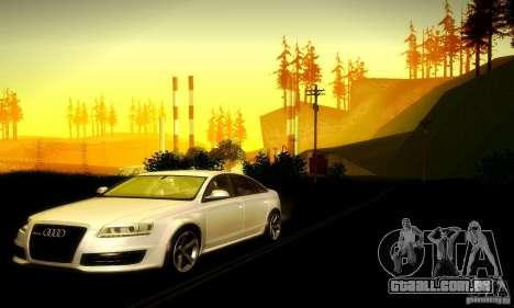 Audi RS6 TT para GTA San Andreas vista traseira