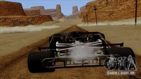 Virar para fora do carro de Furious 6 para GTA San Andreas vista direita