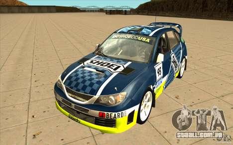 Novos vinis para Subaru Impreza WRX STi para GTA San Andreas vista superior