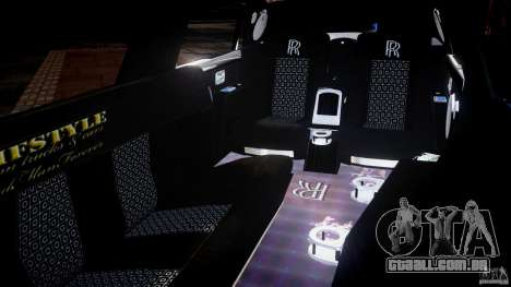 Rolls Royce Phantom Sapphire Limousine Disco para GTA 4 vista lateral