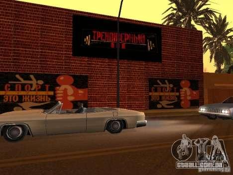Novo ginásio para GTA San Andreas quinto tela