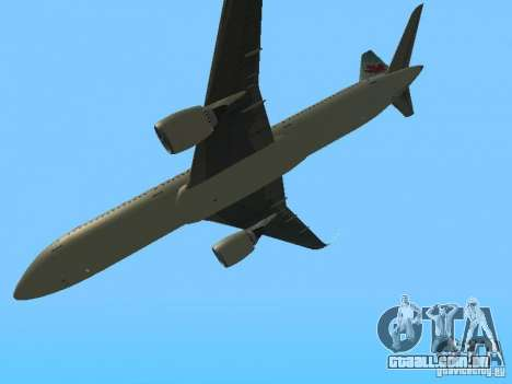 Boeing 787 Dreamliner Air Canada para GTA San Andreas vista interior