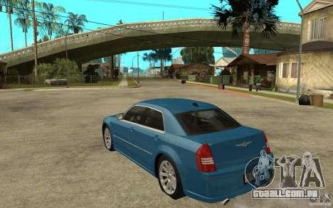 Chrysler 300C 6.1 SRT-8 2007 para GTA San Andreas traseira esquerda vista