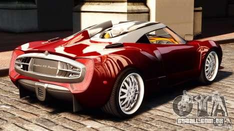 Spyker C12 Zagato 2007 para GTA 4 esquerda vista