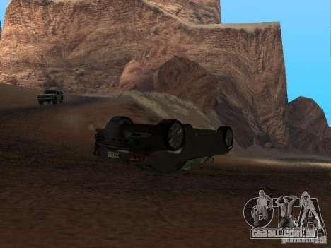 Não queimam carros tombados para GTA San Andreas segunda tela
