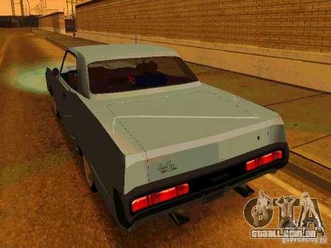 Plymouth Fury Sport 1970 para GTA San Andreas traseira esquerda vista