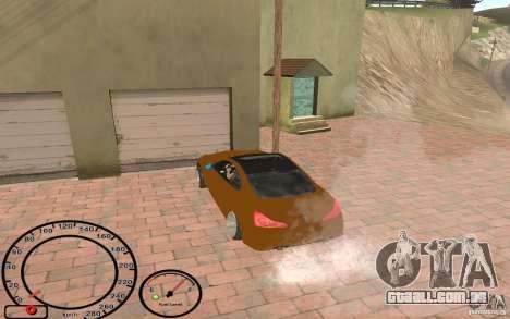 Infiniti G37 Vossen para GTA San Andreas vista traseira