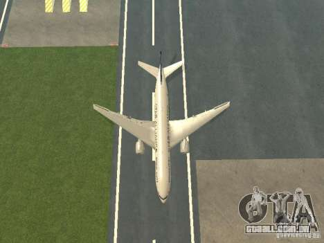 Boeing 777-200 Singapore Airlines para vista lateral GTA San Andreas