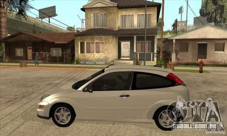Ford Focus SVT para GTA San Andreas esquerda vista