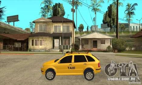 Skoda Fabia Combi Taxi para GTA San Andreas esquerda vista