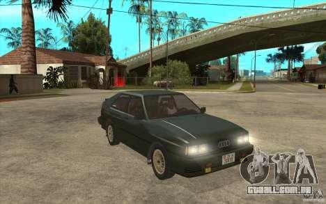 Audi Quattro para GTA San Andreas vista traseira