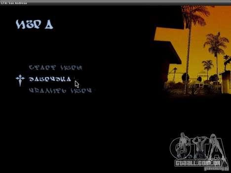 A fonte do NFS MW V2 para GTA San Andreas segunda tela