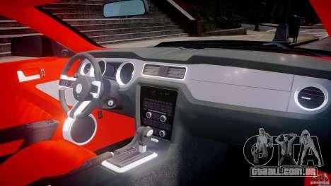 Ford Mustang V6 2010 Police v1.0 para GTA 4 vista superior
