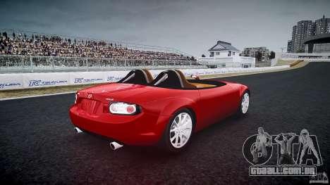 Mazda Miata MX5 Superlight 2009 para GTA 4 vista lateral