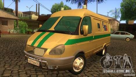Serviços de transporte de gazela 2705 para GTA San Andreas