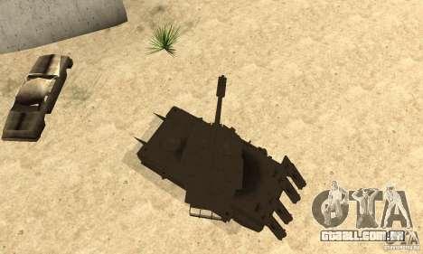 Rinoceronte do tanque Megatron para GTA San Andreas vista direita