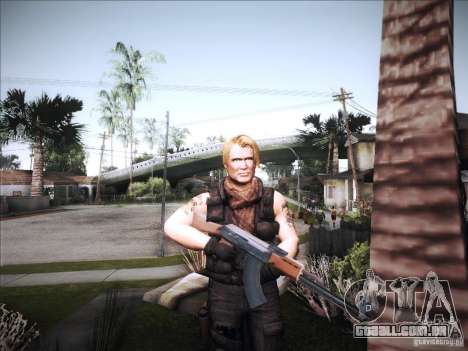Os mercenários para GTA San Andreas segunda tela