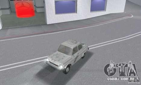 ZAZ 968M esfarrapado para GTA San Andreas vista superior