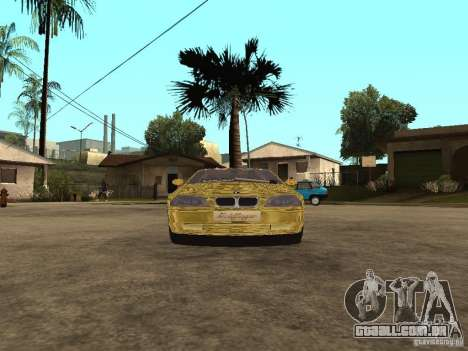 BMW M3 Goldfinger para GTA San Andreas traseira esquerda vista